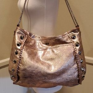 BE & D gold leather bag